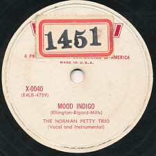 "78 - 13BB - JAZZ - ""X"" O400 - THE NORMAN PETTY BAND"