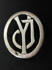 MONOGRAMMES ARGENT MASSIF JY YJ INITIALE CHIFFRE SOLID SILVER MONOGRAMS ART DECO