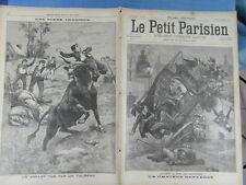 LE PETIT PARISIEN 1899 : 536 - ACCIDENT OMNIBUS RUE DES SAINT PERES