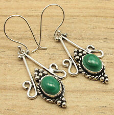 Green MALACHITE Unseen Earrings ! 925 Silver Plated CHEAPEST SHIPPING Jewelry
