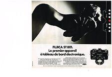 PUBLICITE  1975   FUJICA  ST 801  appareil photo