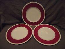 Set of 3 Wedgwood Powder Ruby Dinner Plates