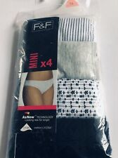 New pack of 4 ladies mini briefs, size 16