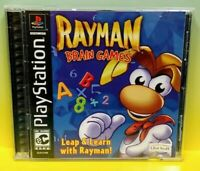 Rayman Brain Games  Playstation 1 2 PS1 PS2 Game Tested Working 1 Owner Complete