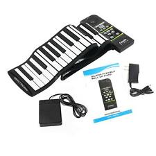 88 Key Electronic Piano Keyboard Silicon Flexible Roll Up with Loud Speaker V8H6