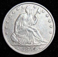 1854-O Arrows 50C Seated Liberty Half Dollar. Choice AU