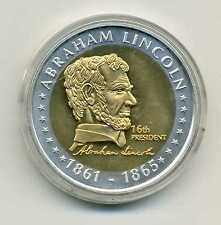 Medaille Abraham Lincoln 16 th President The President of the USA America M_695