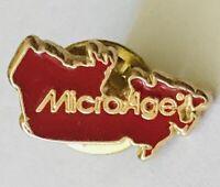 MicroAge Small Souvenir Pin Badge Rare Vintage (E12)