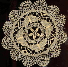 BUTTERFLY CLUNY LACE PAIR 8 Inch ECRU (Light Beige) DOILIES (2 Doilies)