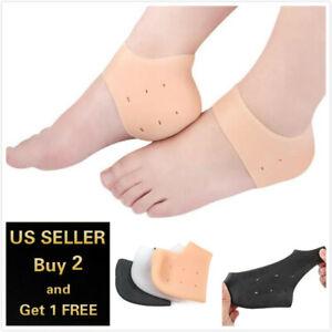 1-2pcs Silicone Gel Elastic Heel Socks Cracked Foot Moisturizing Skin Care