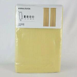 "Ikea ANNALOUISA Curtains 1 Pair Yellow 57"" x 98"""