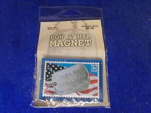 POW & MIA Dog tags  U.S. Allegiance Inc refrigerator magnet