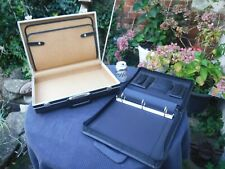 Faux Leather Attache Case & A4 Zipped Ring Binder Document Conference Case