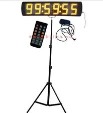"Bright Yellow 5"" LED Countdown Race Timer Stopwatch Marathon Runing Timer Clock"