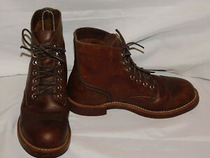 RED WINGS SHOES BROWN LEATHER BOOTS SIZE 6