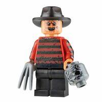 Custom Printed FREDDY KRUEGER Lego Minifigure -Genuine Lego -NEW