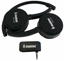 Steepletone SCH1190 Folding Wireless Stereo Headphones with 3.5mm Plug in Dongle