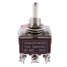 3PDT On/Off/On 3 Postion 9 Screw Terminals Toggle Switch AC 250V 15A Z9B6