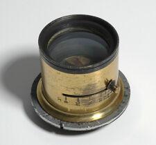 Vintage Brass Barrel Lens (No Name) Variable Aperture Setting-Size 2in Lens