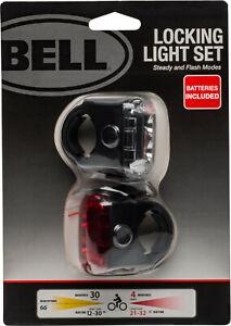 Bell Radian Bicycle Locking Light Set Bike Headlight Tail Light