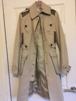 Karen Millen Beige Trench Coat Size 1 (UK 8) BNWT
