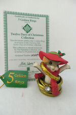 5 Golden Rings Charming Tails 12 Days Of Christmas Hamilton Collection - Mint