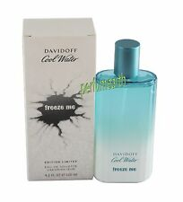 Davidoff Cool Water Freeze Me Tster 4.2 oz Edt Spray  For Men  New In Tster Box