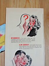 Barbasol Magazine Ad Print 1943 WWII for Modern Shaving No Brush Lather Rub In