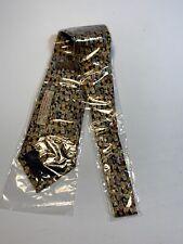 Museum, Teddy Bear Tie, Handmade 100% Silk, 100 Year Anniversary Artifacts