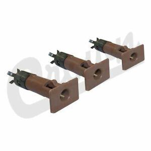 Crown Spice Door Pin Insert Kit for 87-06 Jeep Wrangler YJ / TJ 5FB63RTBK