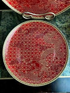 Williams Sonoma Lunar New Year Set Of 4 Dinner Plates Red Dragon