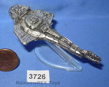 Star Trek Micro Machines CARDASSIAN GALOR WARSHIP Pewter Color with Stand