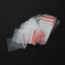 KQ_ 100Pcs 4x6cm Ziplock Zip Lock Jewelry Pill Reclosable Plastic Poly Bags Hot