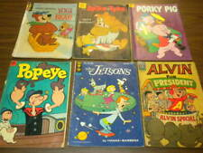 10 Silver Age DELL GOLD KEY comic books lot #1 funny animals Jetsons tv Popeye