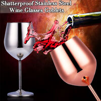 500ml Wine Glasses 304 Stainless Steel Red Wine Whisky Glass Goblet Bar Cup Mug