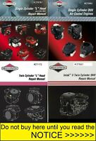 Briggs and Stratton Single & Twin Cylinder Repair, Service, Workshop Manual