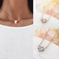 1pcs Gold Silver Plated Alloy Women Crystal Rhinestone Chain Pendant Necklaces