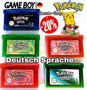Pokemon GBA Smaragd Rubin Saphir Feuerrot Blattgrün auf Deutsch Neu für Gameboy