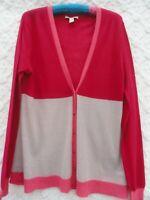 Banana Republic Cardigan Sweater Misses XL Pink Gray Nylon Alpaca Wool Light