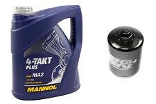 Motoröl Set 10W40 4 Liter Ölfilter KN621 für Arctic Cat 375 500 TBX 650 H1 TBX65