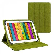 Tasche für ARCHOS 101d Neon 10.1 Zoll Schutz Hülle Case türkis-grün grau Leinen