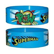 SUPERMAN POW bracciale di gomma Alta Qualità 100% Ufficiale Nuovo