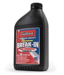Edelbrock 1070 Premium Break-In Oil SAE 30