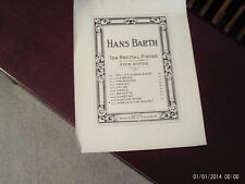 Hans Barth: Awake in the  Woods, piano solo (Schroeder & Gunther)