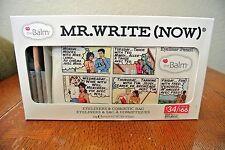 THE BALM MR. WRITE NOW 3PC EYELINER GIFT SET W/COSMETICS BAG ONYX BEIGE MOCHA