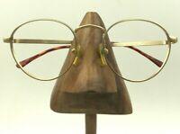Vintage Guess Eyewear GU847 Woodstock Gold Metal Round Eyeglasses Frames Korea