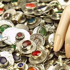 40 real Jeweled COINS Tribal BellyDance Kuchi Tribe - MIXED (( polished ))