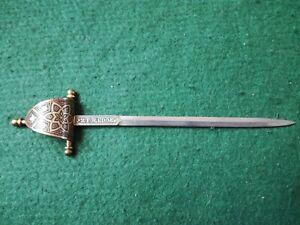 Old Spanish Toledo Sword Letter Opener.