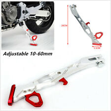 T6063 Aluminum Alloy Motorcycle Stand Supporter Kickstand Side Stand Adjustable