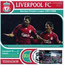 Liverpool 2007-08 Fulham (Steven Gerrard) Football Stamp Victory Card #711